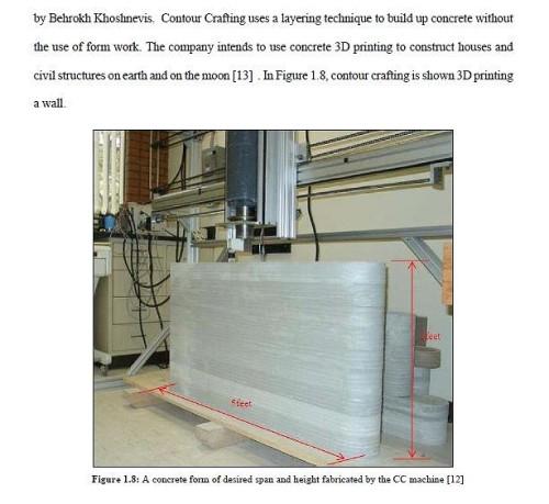 論文に残る最初の建設用3Dプリンター「Contour Crafting」