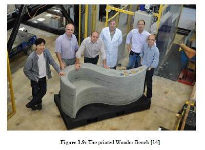3Dプリンターで作られたベンチ