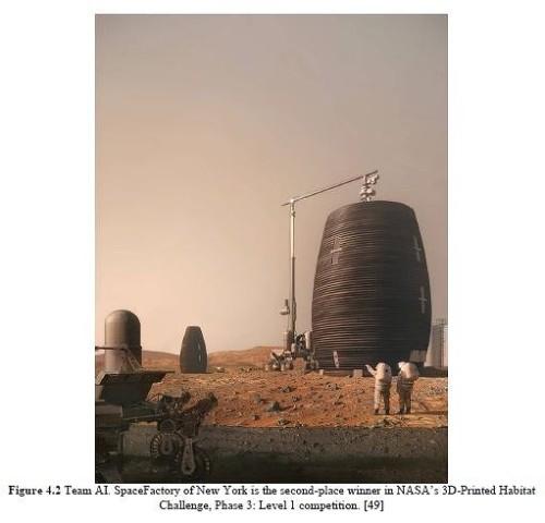 火星での3Dプリンター活用イメージ