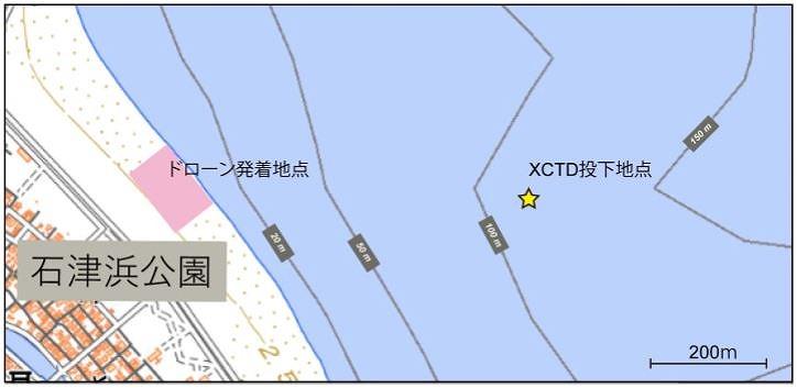 実験が行われた静岡県焼津市の石津浜公園