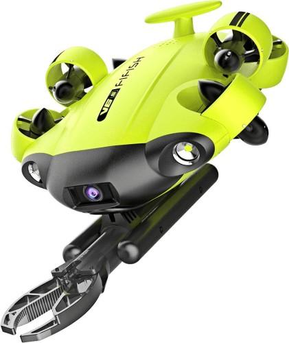 ロボットアームを搭載した産業向け水中ドローン「FIFISH V6s」(以下の写真、資料:シー・エフ・デー販売)