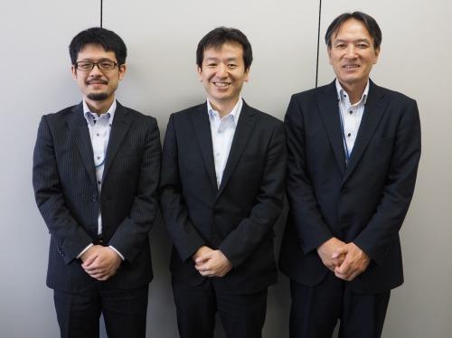 日比谷総合設備でFARO Focus3Dの活用を推進する技術陣。右から田家光規氏、東一聡氏、下田中龍宏氏