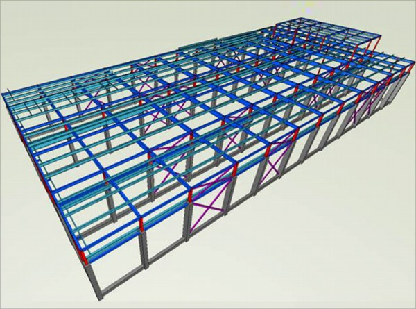 (図4)構造BIMモデル(構造解析ソフトより作成)
