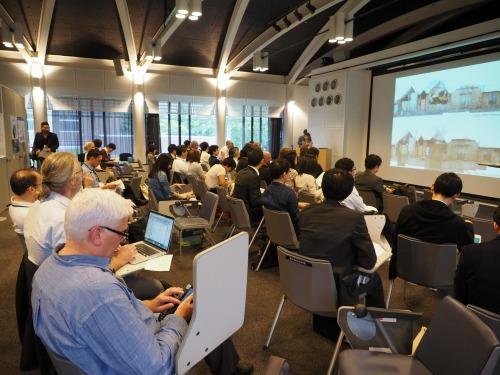 京都工芸繊維大学で開催された「CAADRIA 2014」の講演会場。26カ国から230人以上が参加した