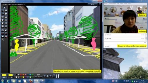 VR-Cloud®によって手書きのスケッチを行った例