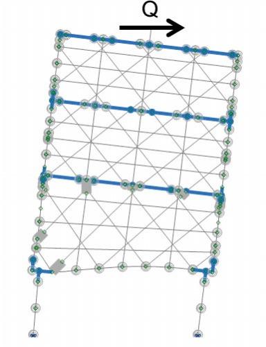 Engineer's Studio®によるピロティ構造の解析結果(資料:建築構法学研究室)