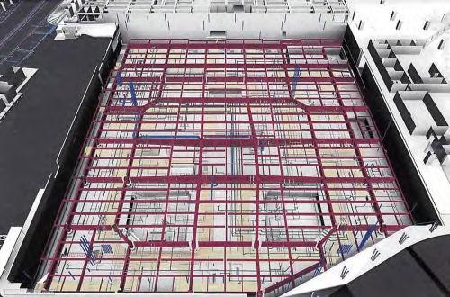 施工段階では3D総合図を作成することが特記仕様書に盛り込まれた(資料:日建設計)