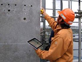 大林組では施工管理を担当する技術者全員がiPadを持っている