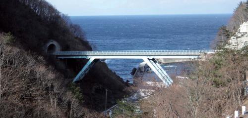 1970年に完成した鋼方杖ラーメン橋