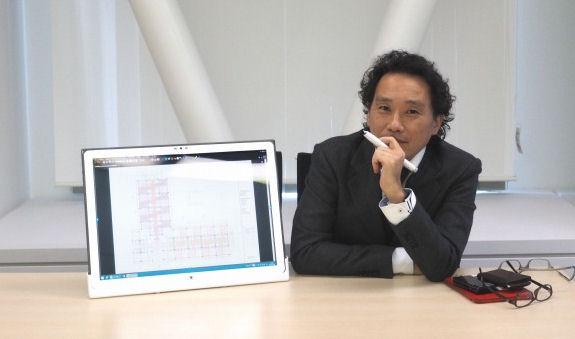 Bluebeamと4K タフパッドについて語る大成建設建築部企画室課長の田辺要平氏