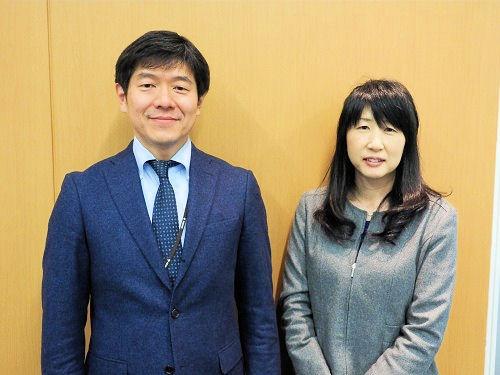 本社情報企画課でCIMの社内展開を担う杉浦伸哉課長(左)と後藤直美主任(右)