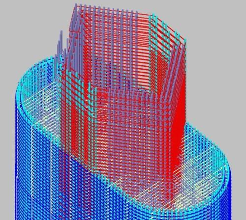 【図5】鉄筋の3Dモデルは鉄筋工事の煩雑さを未然に防いだ