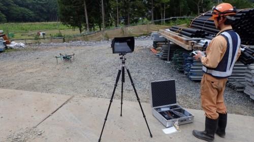 UAVによる現場の空撮作業