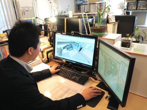 設立以来、2次元CADは使わずBIMモデルベースの設計業務を行うArch5のオフィス