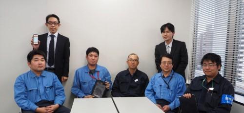DandALLの開発に関わった東急建設の技術者と福井コンピュータの担当者