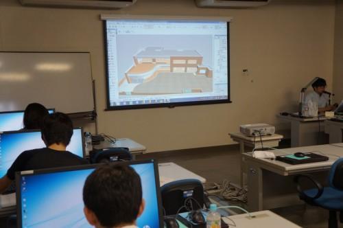 とちぎ建設技術センターで行われているBIM講習