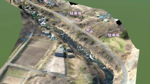 渓谷周辺の駐車場や屋外ステージ(画像右下)などの施設をつなぐ動線も検討課題だった