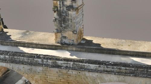 ローマ時代の水道橋を3Dモデル化したもの。細部を拡大するとエッジ部分がシャープにできていることがわかる