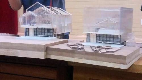 チーム「345」が作成した建物の模型