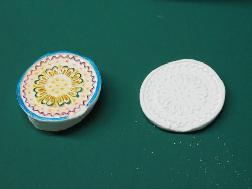 3Dスキャナーで計測し、3Dプリンターで縮小出力した型で作った石こうの模型