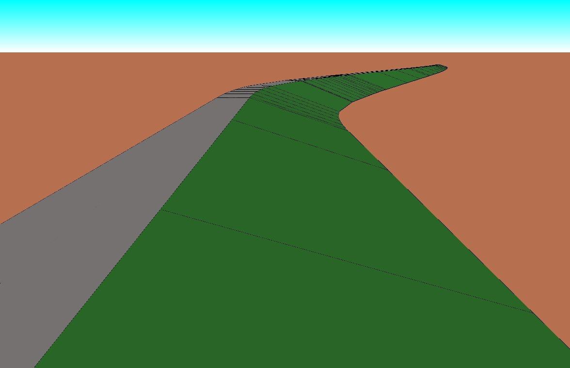 施工に使用した現場の3Dモデル(デキスパートの現場大将で作成)