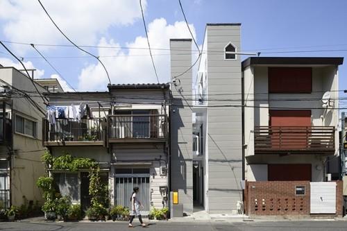 間口3.5mの土地に建てた住宅