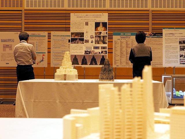OASIS加盟校でのVectorworksを活用した教育や作品などの展示コーナーには、今年も3Dプリンターを使って制作された建築模型など力作の数々が集まった