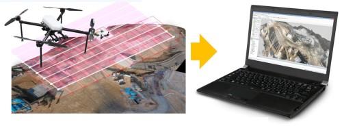 国土交通省のi-Construction政策により、ドローンによる空撮写真を3Dモデル化して土量計算や出来形管理を行う手法が普及しつつある