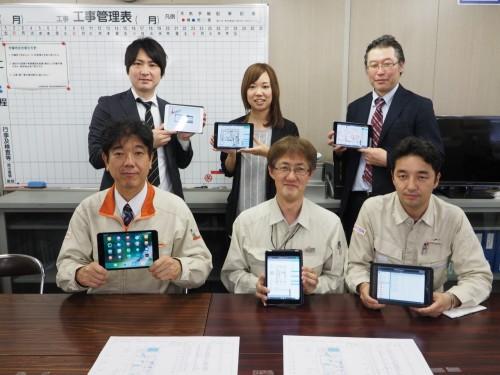LAXSYの開発に携わった戸田建設とYSLソリューションのメンバー