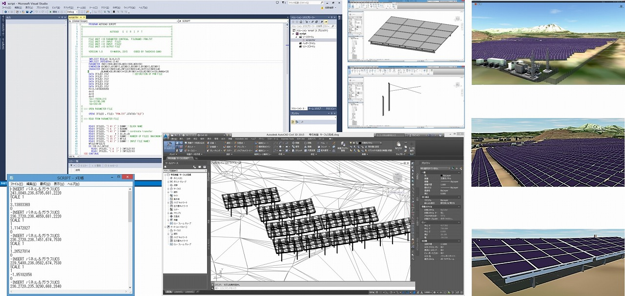 自動配置プログラムを用いたモデル作成の概要