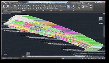 AutoCADで作成したEPS盛り土の3Dモデル