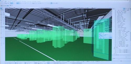 意匠、構造、設備のデータがぎっしりと入ったフルBIMモデルの例