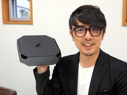 HP Z2 Mini G3の重さは約2kgとモバイル型ワークステーションより軽いくらい