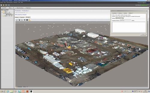 高さ情報を持った資材ヤードの3Dモデル