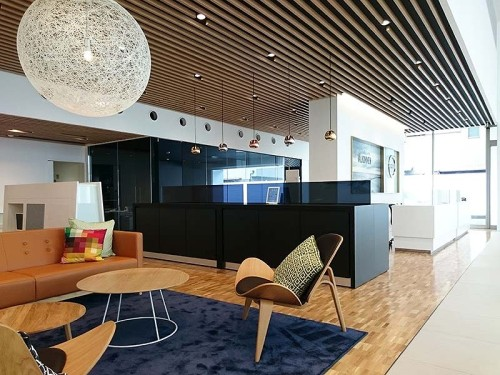 高級感あふれる店舗内部。家具や内装などの細かな仕様決定にCI図面は欠かせない