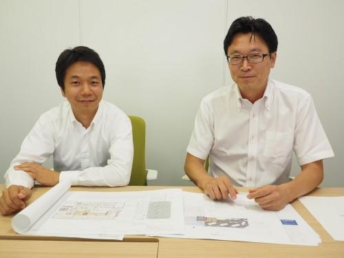 RGSの活用について語るアーバンスクエア取締役社長の金田昭宏氏(右)と設計部課長の塚本真也氏(左)