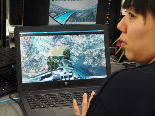 AutoCAD Civil 3Dで設計した砂防堰堤のCIMモデル