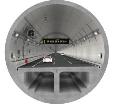 AutoCAD Civil 3Dで作成した東京外かく環状道路のシールドトンネルのCIMモデル