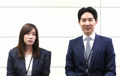左からNEXCO中日本東京支社 環境・技術管理部 環境・技術チームの石井麻貴氏とサブリーダーの石田篤徳氏