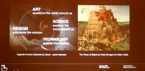 """アート、デザイン、科学、技術の4分野のアイデアがぶつかり合い、次に実現すべきビジョンとなる""""バベルの塔""""が生まれてくる"""