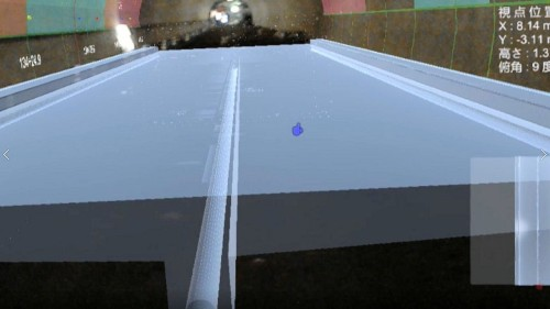 下を見ればこれから施工される床版や排水溝などの構造物が見える