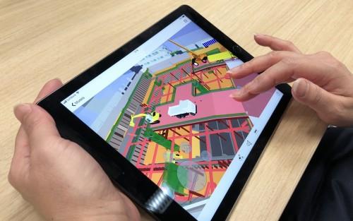 NavisworksのBIMモデルをiPad上で見られるGlueの活用例