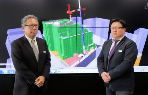 左からBIM推進部プロダクトデザイングループの吉村知郎グループリーダーと三瓶亮氏