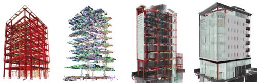構造、設備、意匠のBIMモデルを一つにまとめた統合BIMモデル