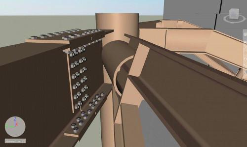 鉄骨の施工BIMモデルをVRで見ながら溶接が可能かどうかを検討