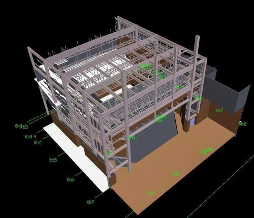 ホール全体のBIMモデル