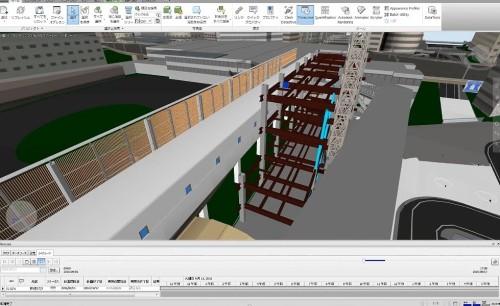 Navisworksを使った工程シミュレーション