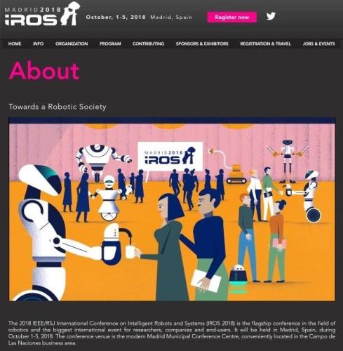 2018年10月1日~5日、スペインのマドリッドで開催されるIROS 2018のウェブサイト
