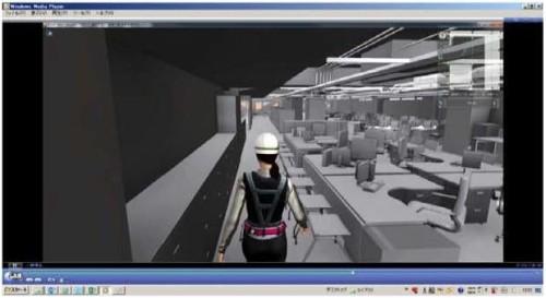 オフィス内をスムーズに歩き回れるかどうかを確認した動画