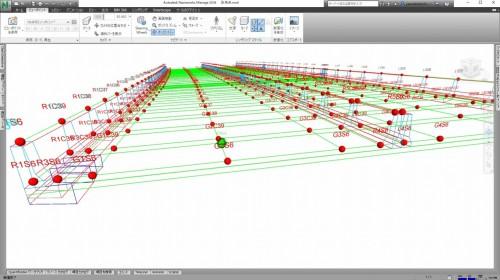 CIMモデルから取り出した出来形検査用の座標データ